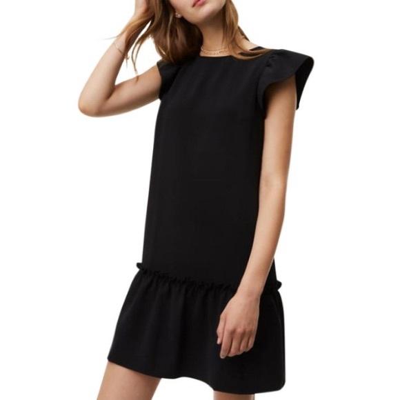 LOFT Dresses & Skirts - Ann Taylor LOFT Black ruffle flounce casual dress